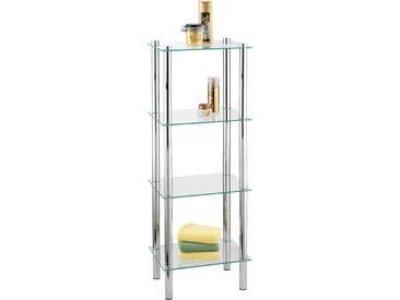 WENKO Regal Yago viereckig mit 4 Glasablagen, einfache Montage