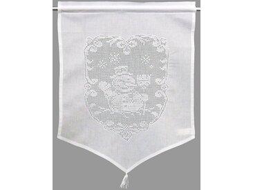 Vorhang , weiß, H/B: 45/60cm, »SCHNEEMANN«, HOSSNER - ART OF HOME DECO