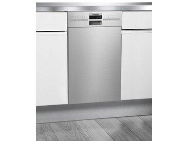 SIEMENS Unterbaugeschirrspüler, SR436S01ME, 9,5 l, 10 Maßgedecke, 45 cm breit, Energieeffizienz: A+, silber, Energieeffizienzklasse: A+