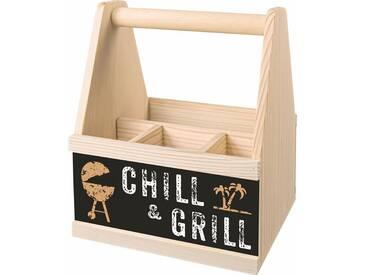 Besteckträger »Chill & Grill«, beige, Contento
