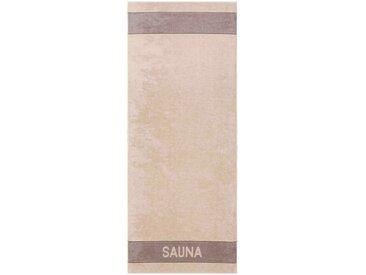 Sauna-Tuch »Sauna Linie«, braun, 1x 80x200cm, Cawö