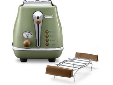 Toaster Incona Vintage , grün, »CTOV 2103.BG«, DeLonghi
