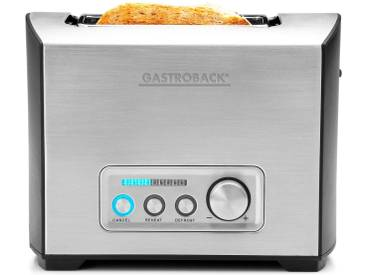 Toaster »Design Toaster Pro 2S 42397« silber, Gastroback