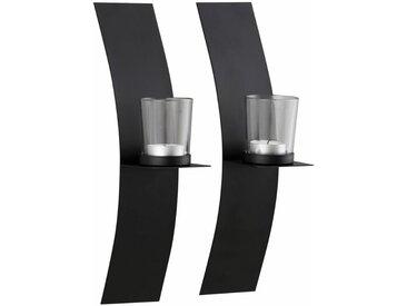 Home affaire Wand-Kerzen-Halter , schwarz, 12x7x31cm