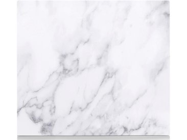 Herdblende-/Abdeckplatte , weiß, »Marmor«, Zeller Present