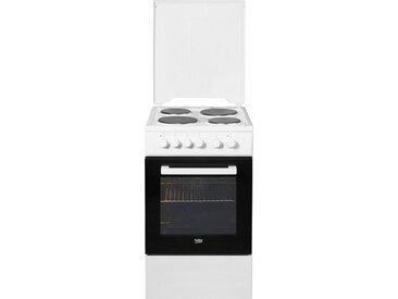 BEKO Platten-Standherd FSE56000GW, weiß, Energieeffizienzklasse: A