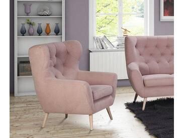 Home affaire Sessel mit moderner Knopfheftung »VOSS« rose, FSC®-zertifiziert