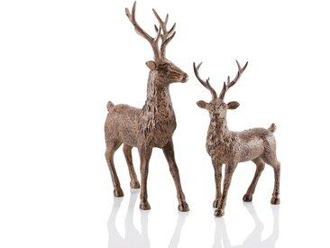Tier-Figur , braun, H: 28 cm, »Hirsch«,