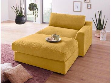 sit&more Chaiselongue, gelb, 139cm, Recamiere rechts