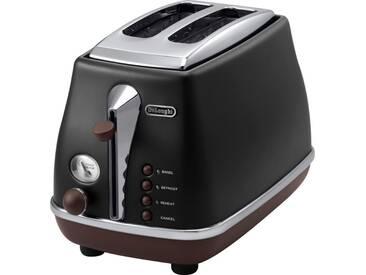 Toaster CTOV 2003.BK, schwarz, DeLonghi