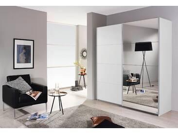 PACK´S Schwebetürenschrank »Subito« weiß, Breite 181 cm, 1 Spiegel- und 1 Dekortür, rauch
