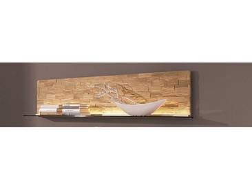 Wandregal mit Spaltholz-Applikation »Viva«, braun, Breite 168 cm, gewachst, , , HARTMANN