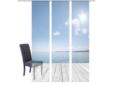 HOME WOHNIDEEN Schiebevorhang »OZEAN«, blau, H/B: 245/57cm