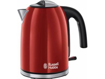 RUSSELL HOBBS Wasserkocher 20412-70 WK Colours Plus+ Flame Red, rot
