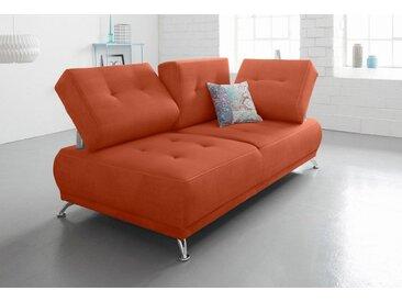 Chaiselongue »Lina«, orange, mit Kopfteil- und Rückenverstellung, 180cm, FSC®-zertifiziert, Bruno Banani