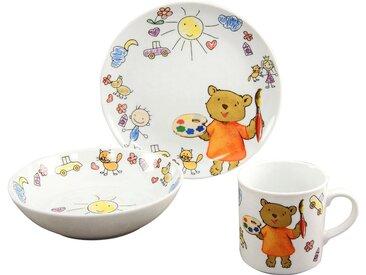 Kindergeschirr-Set , weiß, spülmaschinenfest, »Teddy«, , , spülmaschinenfest, CreaTable