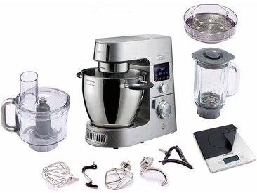KENWOOD Küchenmaschine mit Kochfunktion Cooking Chef Gourmet KCC9060S/KCC9061S mit digitaler Küchenwaage, silber