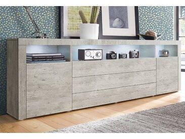Sideboard, grau, mit Schubkästen, borchardt Möbel