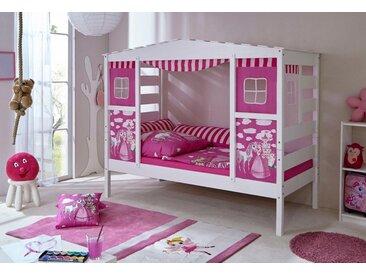 """Hausbett , rosa, Mit Textil-Set """"Pinzessin"""", 90x200cm, FSC-Zertifikat, »Lio«, , , FSC®-zertifiziert, Ticaa"""
