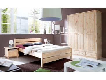 Bett in diversen Breiten, beige, Liegefläche 140x200cm, »Bora«, FSC®-zertifiziert, Ticaa