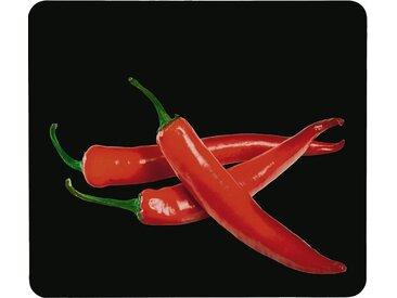 WENKO Herdabdeckplatte »Hot Peperoni«, schwarz
