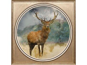 Acryl-Glasbild , bunt, 40x40cm, »Hirsch«,