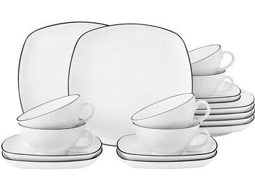Teeservice , weiß, spülmaschinenfest, »Lido«, , , spülmaschinenfest, Seltmann Weiden