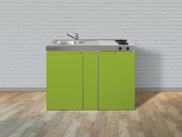 Metall-Miniküche MK 120 A grün, Energieeffizienzklasse: A, Stengel