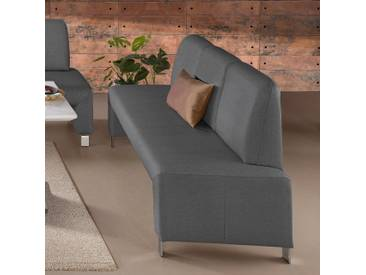 3er Bank mit Rückenlehne grau, anthrazit, FSC®-zertifiziert, exxpo - sofa fashion