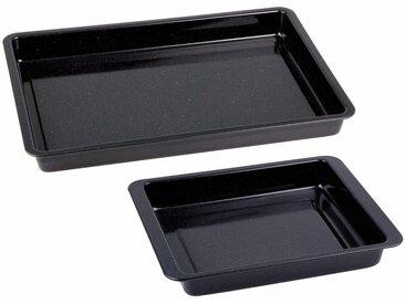 Backblech »Emaille«, schwarz, 42/28,5 x 29/23 x 4cm, CHG