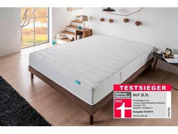 """7 Zonen Boxspringmatratze »Deluxe T-1600«, weiß, 0-80 kg, 1x 100x200cm, """"Härtegrad 3"""", , , Hn8 Schlafsysteme"""