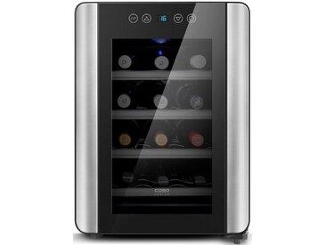 """Getränkekühlschrank WineCase 12 Red, schwarz, """"zeitloses Design"""", , , Energieeffizienzklasse: A, Caso"""