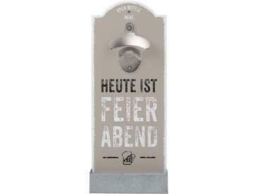 Wand-Flaschenöffner »Feierabend«, beige, Contento