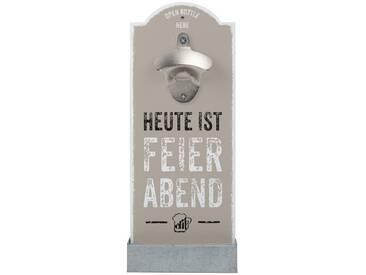 Wand-Flaschenöffner, beige, robust, »Feierabend«, , , Contento