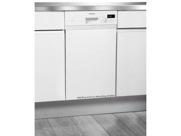 SIEMENS Teilintegrierbarer Geschirrspüler SR515W03CE, A+, 8,5 Liter, 9 Maßgedecke, Energieeffizienz: A+, weiß, Energieeffizienzklasse: A+