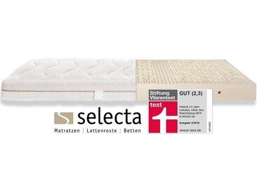 Latexmatratze , weiß, 81-100 kg, 7 Zonen, 1x 80x200cm, »Selecta L4 Latexmatratze«, strapazierfähig, Selecta