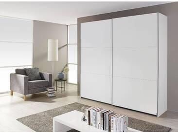 PACK´S Schwebtürenschrank »Borba« weiß, Breite 218 cm, 2-türig, rauch