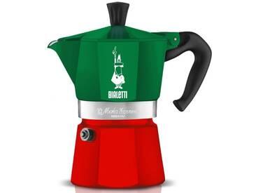 BIALETTI Espressokocher Moka Express Italia, grün, Inhalt 6 Tassen