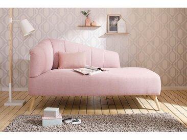 Chaiselongue , rosa, Armlehne links, 162cm, »Lucy«, FSC®-zertifiziert, andas