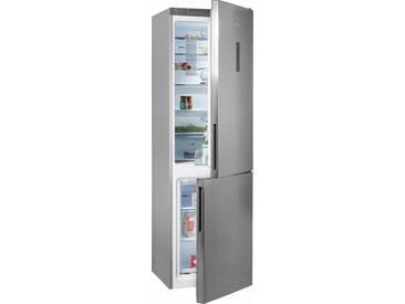 BAUKNECHT Kühl-/Gefrierkombination, 201 cm hoch, 59,5 cm breit, Energieeffizienz: A+++ silber, Energieeffizienzklasse: A+++