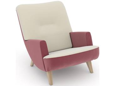 build-a-chair Loungesessel beige, Korpus: Samtvelours rosé, »Borano«, FSC®-zertifiziert, Max Winzer®