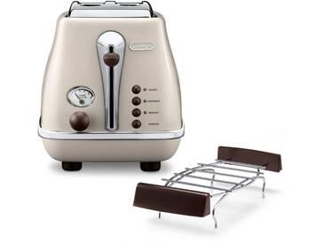 Toaster Incona Vintage »CTOV 2103.BG«, beige, DeLonghi