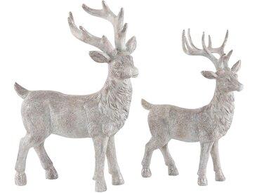 Home affaire Tier-Figur , beige, 17,5/21,5x24/28,5 cm, »Hirsche«