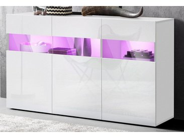 Sideboard, weiß, Hochglanz-Fronten, FSC®-zertifiziert, Tecnos