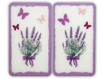 WENKO Herdabdeckplatte »Lavendel-Bouquet«, beige
