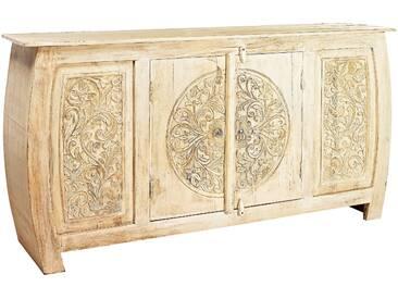 Sideboard kunsthandwerklich gefertigt weiß, ca. 84,5/165,5/40cm, heine home