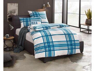 Bettwäsche , blau, 1x 155x220cm, »Denva«