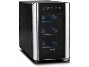 Getränkekühlschrank WineCase 6, 40 cm hoch, 26,50 cm breit, Energieeffizienz: A, schwarz, Energieeffizienzklasse: A, Caso