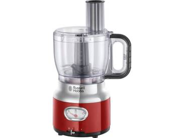 RUSSELL HOBBS Zerkleinerer Retro Ribbon Red Food Processor 25180-56, rot
