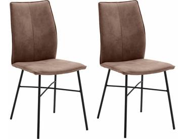 NIEHOFF SITZMÖBEL Design Stuhl , braun, »Capri«, strapazierfähig